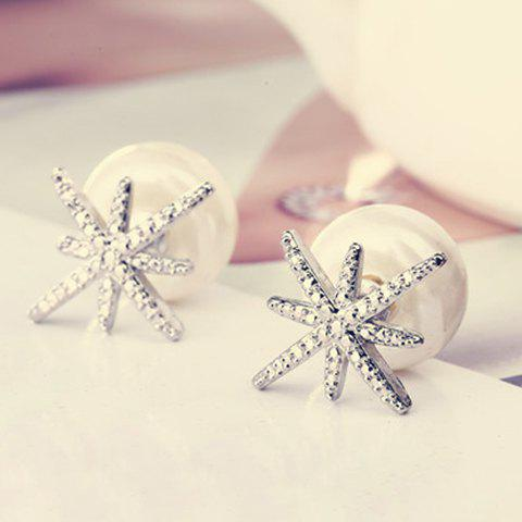 Pair of Stylish Star Rhinestoned Earrings For Women