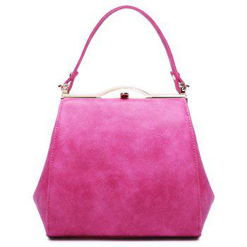 Simple Hasp and PU Leather Design Tote Bag For Women