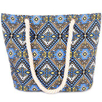 Ethnic Style Canvas and Tribal Printed Design Women's Shoulder Bag