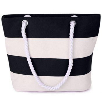Zip Striped Shoulder Bag