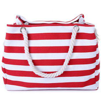 Leisure Color Block and Stripes Design Women's Shoulder Bag