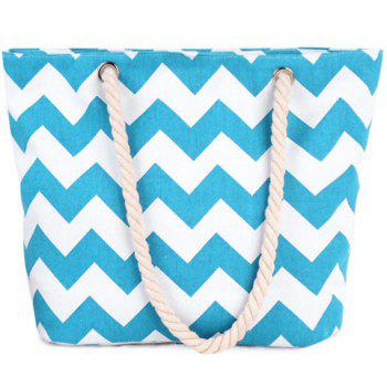 Casual Wavy Stripes and Color Block Design Women's Shoulder Bag