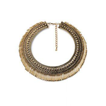 Vintage Chunky Alloy Fringed Necklace