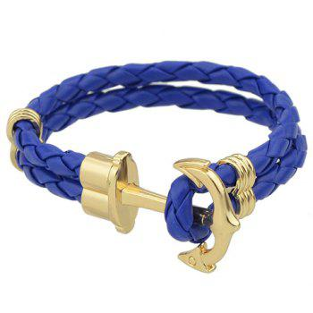 Multilayered Faux Leather Rope Bracelet