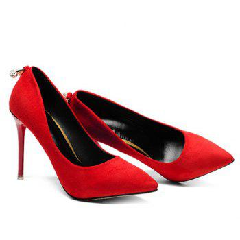 Fashionable Stiletto Heel and Pointed Toe Design Pumps For Women - RED 38