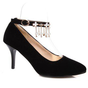Elegant Chains and Ankle Strap Design Pumps For Women - 36 36