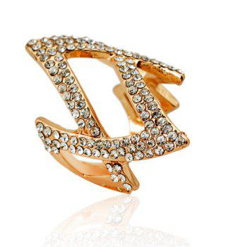 Stylish Rhinestoned Rhombus Ring For Women