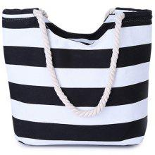 Leisure Color Block and Striped Design Women's Shoulder Bag