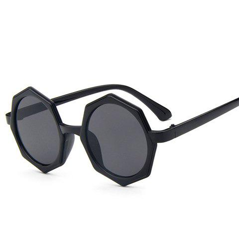 Chic Polygonal Frame Women's Black Sunglasses - BLACK