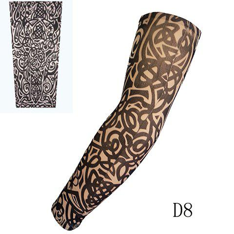 Stylish One Piece Totem and Cirrus Print Fake Tattoo Arm Sleeve For Men - WHITE/BLACK