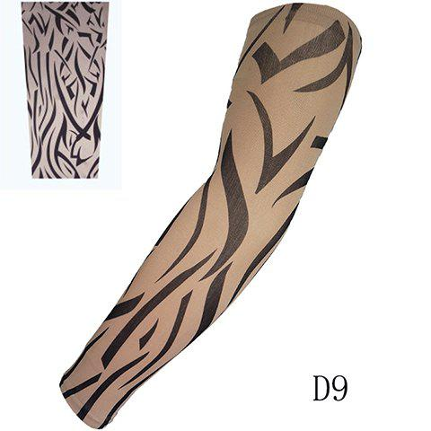 stylish one piece zebra stripe print fake tattoo arm sleeve for men white black in gloves. Black Bedroom Furniture Sets. Home Design Ideas