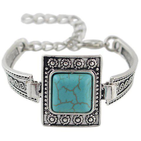 Chic Faux Turquoise Geometric Bracelet For Women