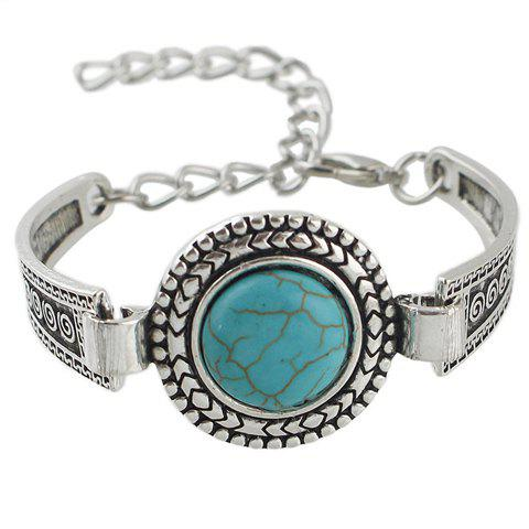 Chic Faux Turquoise Round Bracelet For Women