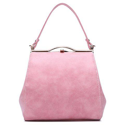 Simple Hasp and PU Leather Design Tote Bag For Women - PINK
