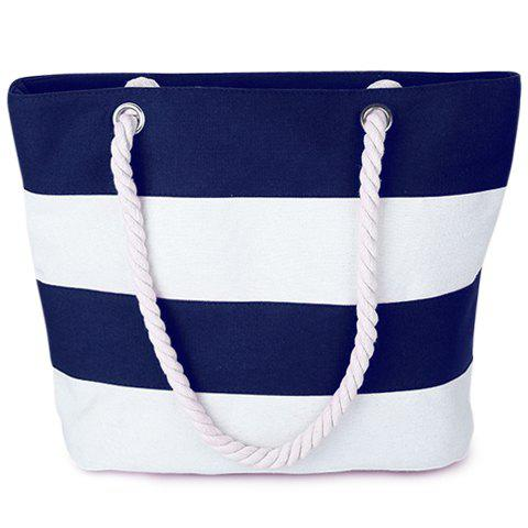 Zip Striped Shoulder BagBags<br><br><br>Color: BLUE