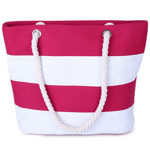 Leisure Stripe and Color Block Design Shoulder Bag For Women
