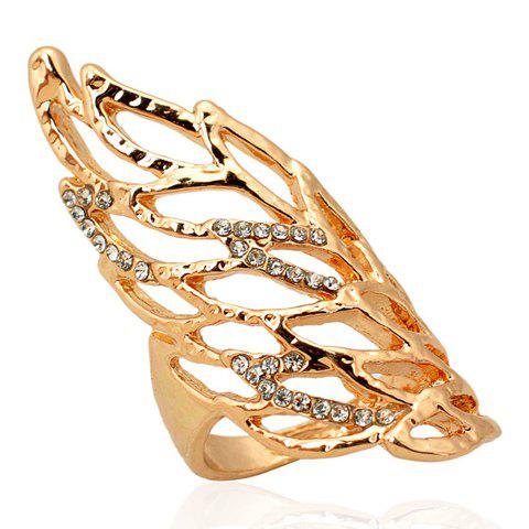 Stylish Rhinestone Wing Ring For Women