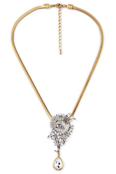 Stylish Water Drop Faux Crystal Necklace For Women