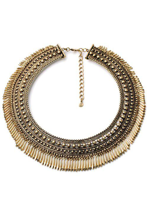 Vintage Chunky Alloy Tassel Necklace For Women
