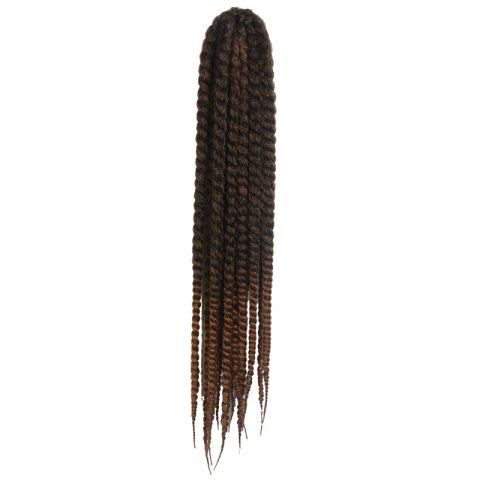 Stunning Dark Brown Ombre Kanekalon Synthetic Long Women's Dreadlock Braided Hair Extension - COLORMIX