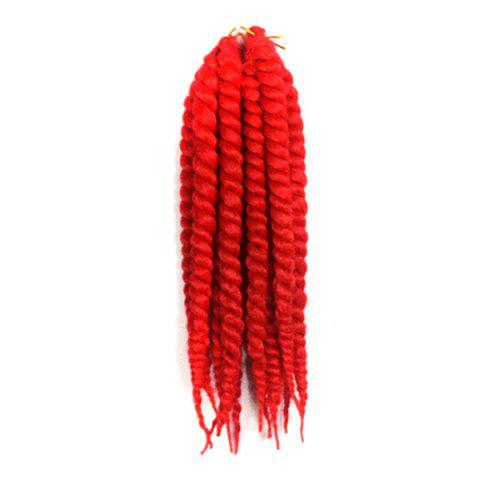 Kanekalon Synthetic Stylish Long Twist Braided Hair Extension - RED