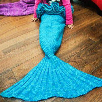 Sweet Hand Knitting Mermaid Design Baby Sleeping Bag Blanket - ONE SIZE(FIT SIZE XS TO M) ONE SIZE(FIT SIZE XS TO M)