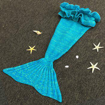 Sweet Hand Knitting Mermaid Design Baby Sleeping Bag Blanket - LAKE BLUE ONE SIZE(FIT SIZE XS TO M)