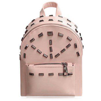 Preppy Style Rivets and PU Leather Design Backpack For Women