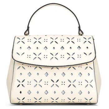 Stylish PU Leather and Engraving Design Women's Tote Bag