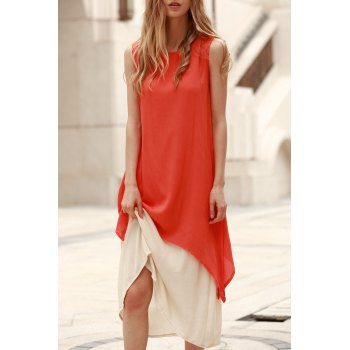 Round Neck Tank Dress + Long Under Dress Twinset