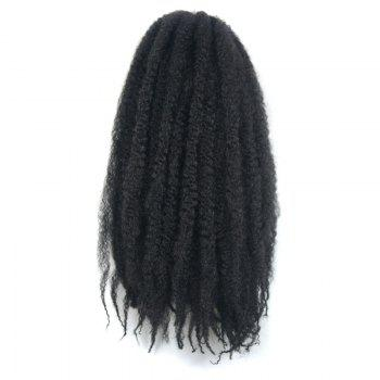 Fluffy Afro Kinky Curly Trendy Long Kanekalon Synthetic Braided Hair Extension For Women