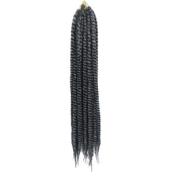 Stylish Long Kanekalon Synthetic White Ombre Dark Gray Women's Dreadlock Braided Hair Extension