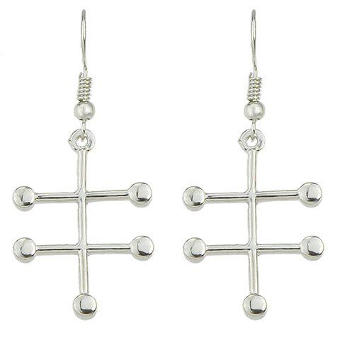 Pair of Chic Solid Color Cross Earrings For Women