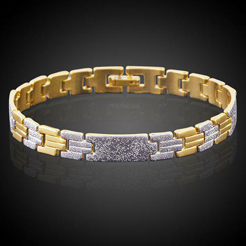 Trendy Stitching Color Bracelet  For Women - SILVER/GOLDEN