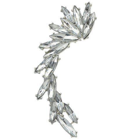 ONE PIECE Faux Crystal Ear Cuff - SILVER