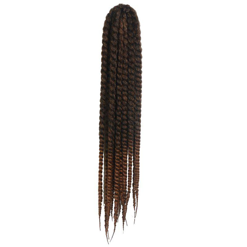Superbe Dark Brown Ombre Kanekalon synthétique Dreadlock Braided Hair Extension Longues Femmes - multicolore