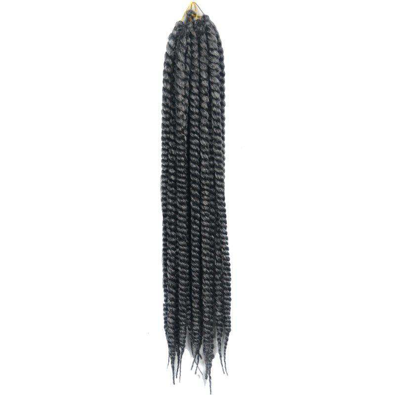 Stylish Long Kanekalon Synthetic White Ombre Dark Gray Women's Dreadlock Braided Hair Extension - COLORMIX