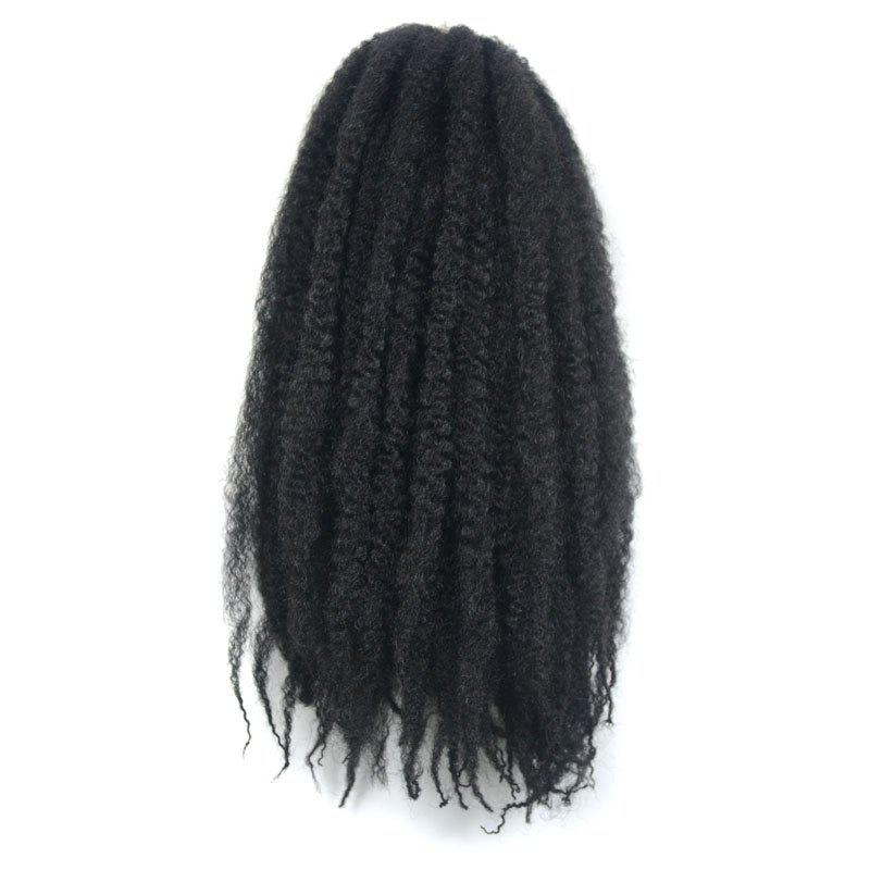 Fluffy Afro Kinky Curly Trendy Long Kanekalon Synthetic Braided Hair Extension For Women cheap afro kinky curly wig synthetic short wigs for african american black women ombre kanekalon fiber jewish kosher u part wig