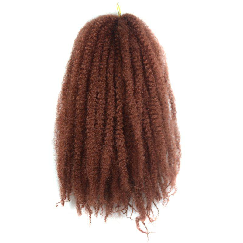 Fluffy Afro Kinky Curly Trendy Long Kanekalon Synthetic Braided Hair Extension For Women -