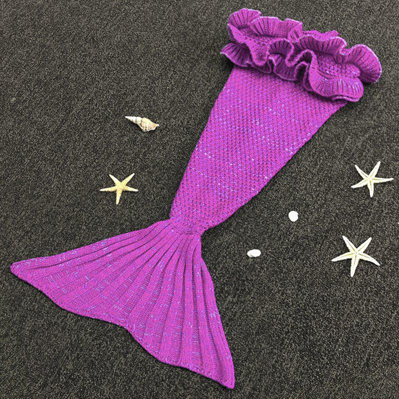 Sweet Hand Knitting Mermaid Design Baby Sleeping Bag Blanket