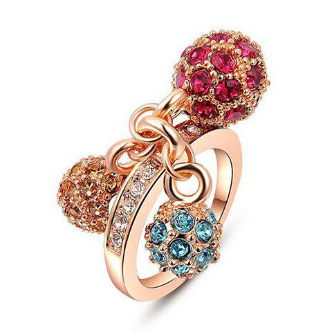 Rhinestone Ball Ring - GOLDEN ONE-SIZE