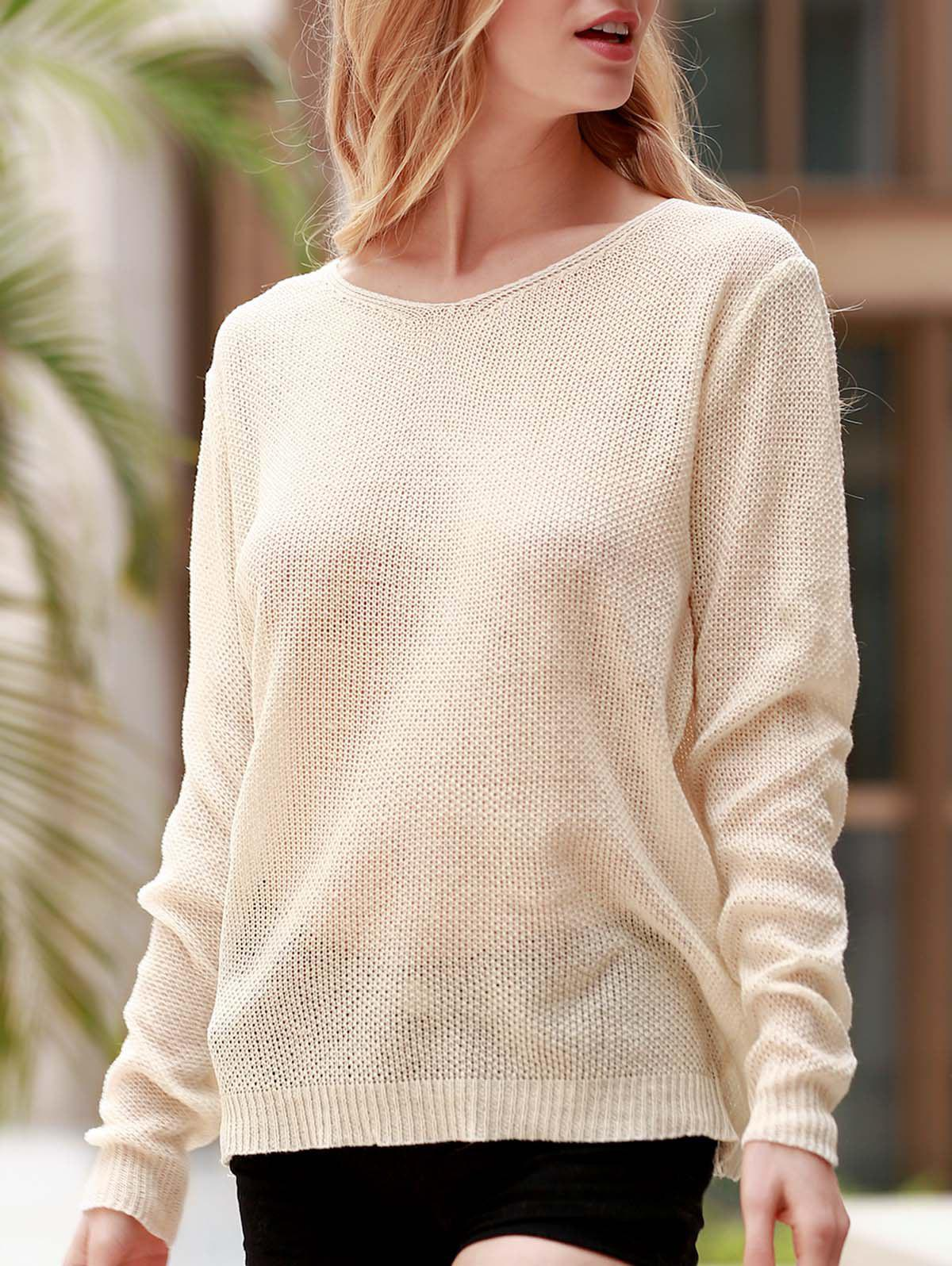 Loose V Neck Knit Sweater