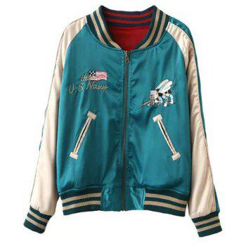 Women s Long Sleeve Embroidered Baseball Jacket