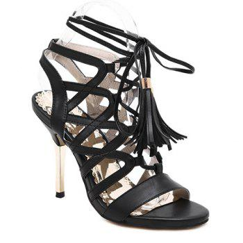 Trendy Tassels and Hollow Out Design Sandals For Women
