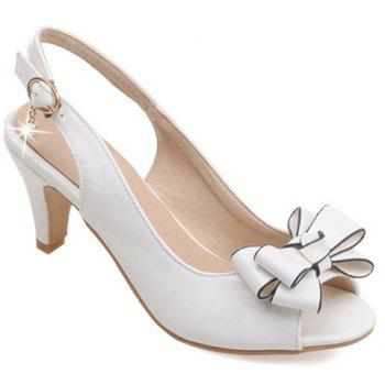 Graceful Patent Leather and Bowknot Design Women's Sandals