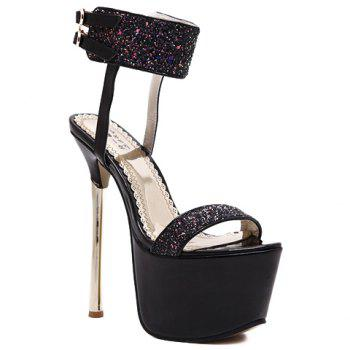 Sexy Sequins and Platform Design Sandals For Women