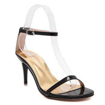 Ladylike Ankle Strap and Stiletto Heel Design Sandals For Women