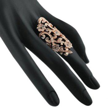 Hollow Out Rhinestone Ring - GOLDEN ONE-SIZE