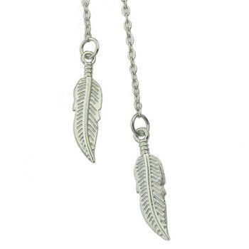 Leaf Shape Pendant Necklace - SILVER