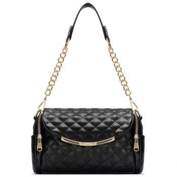 New Arrival Checked and PU Leather Design Shoulder Bag For Women